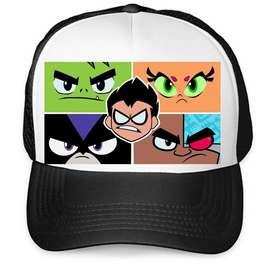 Gorra Estampada Camionera Personalizada Jovenes Titanes en Accion