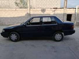 Vendo auto hyundai Excel azul año 92 buen estado 12 mil soles