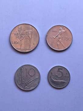 Italia lote de monedas