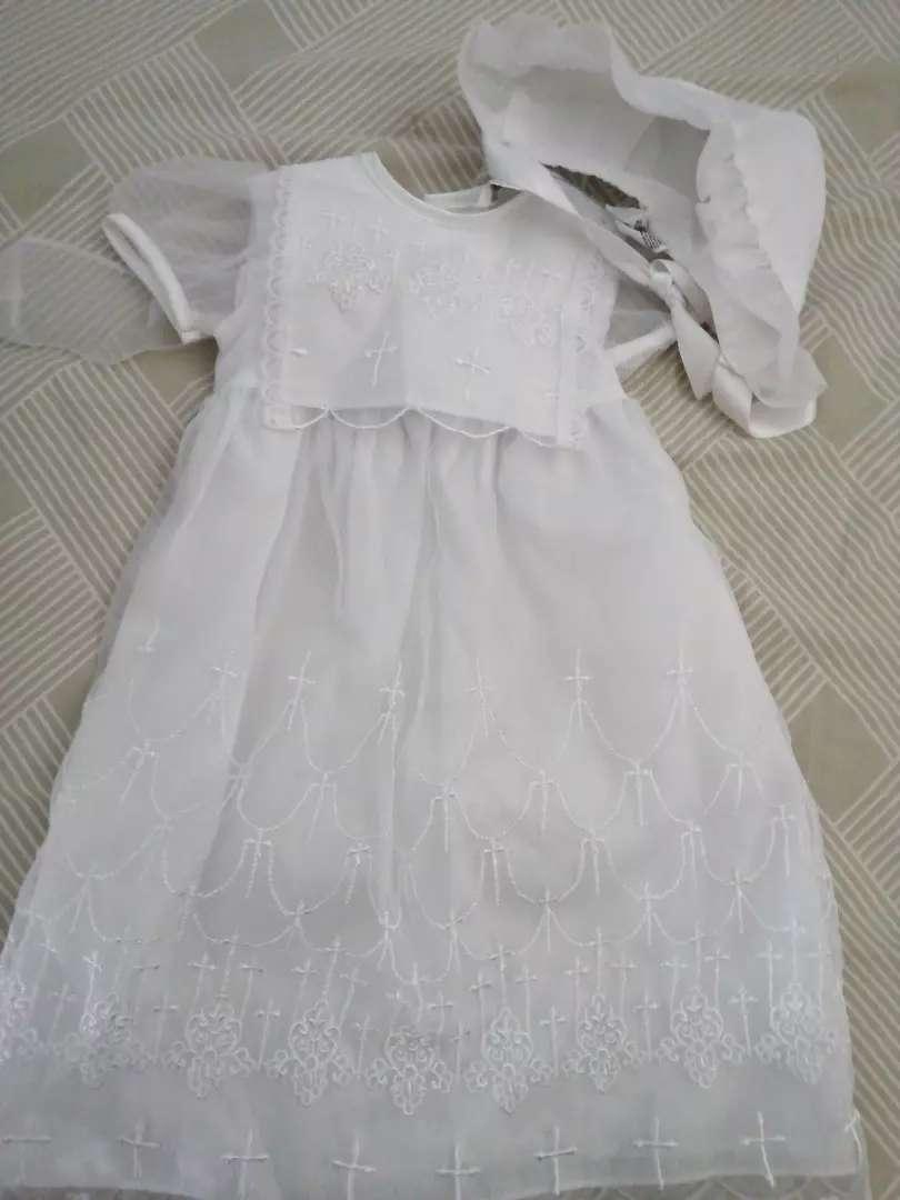 Hermoso vestido de bautizo nuevo 0