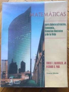 Matematicas para Administración y Economía Pearson 8va Edición