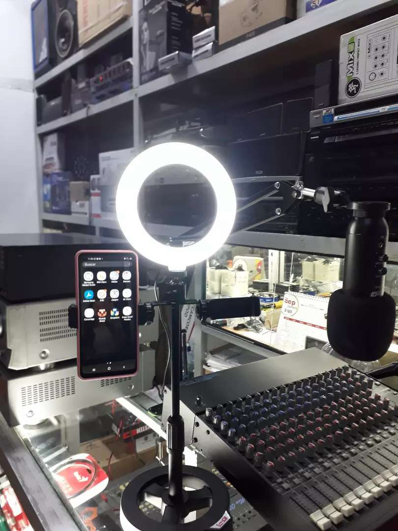 Aro de la LED para streaming 0