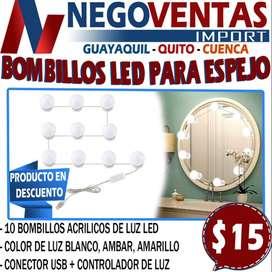 BOMBILLOS LED PARA ESPEJO EN DESCUENTO EXCLUSIVO DE NEGOVENTAS