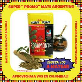 SUPER OFERTA! EQUIPO DE MATE ARGENTINO ! MATE CALABAZA c\ BOMBILLA c\ YERBA MATE DE 500 GRAMOS !