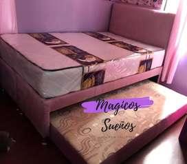 Oferta de base cama duplex en medida semcilla, envio gratis