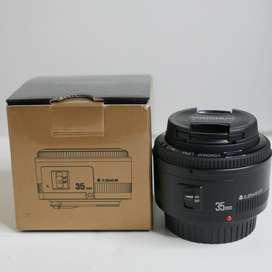 Lente Yongnuo para Canon de 35mm f2.0 muy luminoso