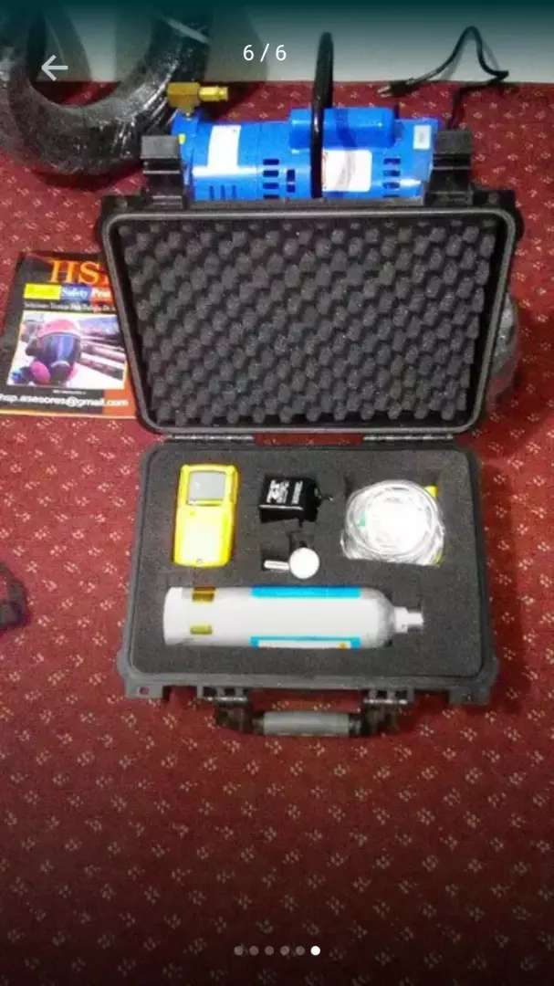 Detector de gases  multigases explosimetro confinados rescate petzl bomberos 0