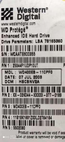 VICTORIA HDD - Disco duro 40 GB