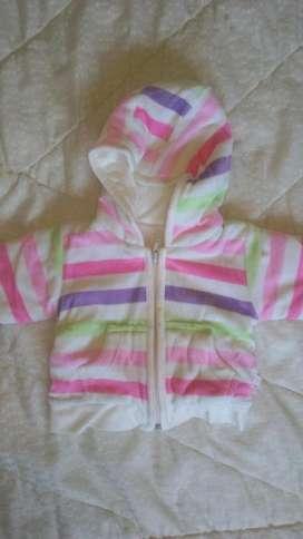 campera plush con abrigo Marca Cheeky 1 a 3 meses  150