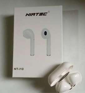 Audífonos Bluetooth táctiles con caja De carga y micrófono