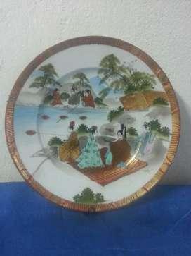 Plato Decorativo Porcelana Mikado