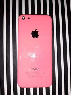 Vendo iphone 5c blanco para repuesto + housing rosa para cambiarlo