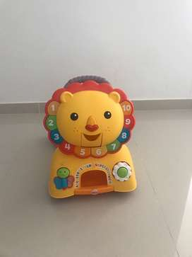 Leon fisher price para niños excelente estado