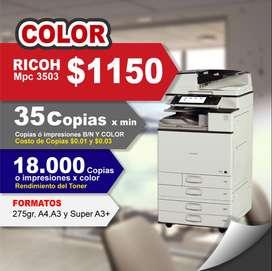 Copiadora Impresora Ricoh Mpc 3503 FULL COLOR