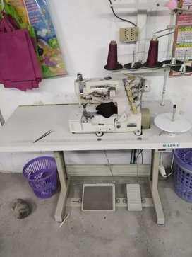 Maquina de coser collarín industrial