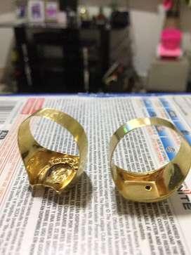 Anillos de oro 18 kits
