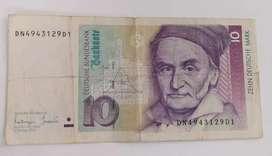 Billete de 10 Marcos Alemanes 1993