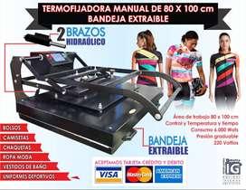 AA Termofijadora industrial 80x100 cm bandeja extraible