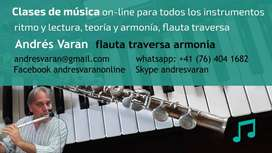 Clases de música on-line Flauta traversa Armonía