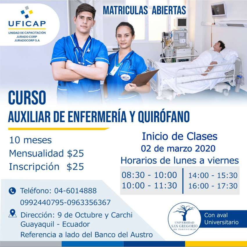 CURSO AUXILIAR DE ENFERMERÍA Y QUIRÓFANO 0
