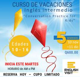 "CURSO DE VACACIONES ""Conversation Practice for Kids"""
