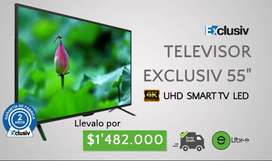 "TELEVISOR EXCLUSIV 55"" UHD, 4K, SMART TV"