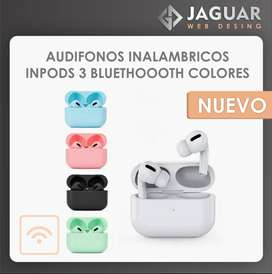 AUDIFONOS INALAMBRICOS INPODS 3 BLUETHOOOTH COLORES