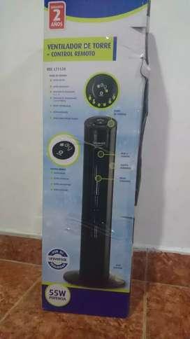 Ventilador de Torre + Control remoto marca UNIVERSAL
