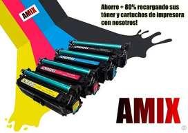 Recarga relleno tóner cartuchos tintas repuestos Bogotá domicilios hp canon samsung epson kyocera pantum AMIX