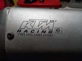 Escape resonador KTM recing toda prueba como nuevo solo gente seria