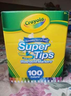 Plumones super tips 100 und marca CRAYOLA