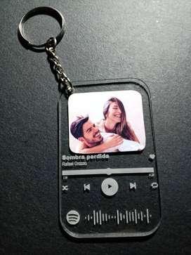 Llaveros Spotify ¡personalizados!