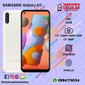 Nuevo Samsung Galaxy A11 SM-115M/DS, 32GB, 2GB RAM, HUELLA