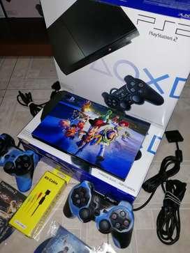 VENDO PS2 SLIM 90001 COMPLETOS EN CAJA COMO NUEVOS