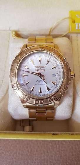 Reloj Invicta Automático 21 Jewels, Dorado, Professional Diver, Original Modelo No 2306 Water Resistant 660ft-200 metros