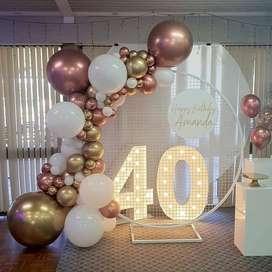 Festi Eventos:realizamos todo tipo de decoración para tus fechas especiales. (bodas,cumpleaños.grados.aniversarios)1231