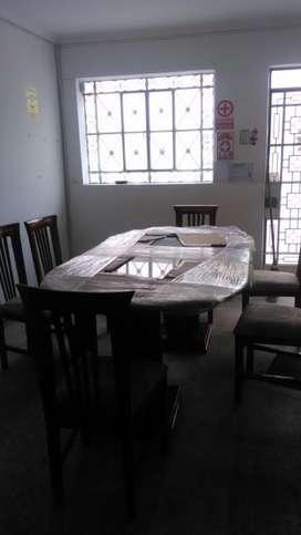 Juego de comedor de madera 6 sillas
