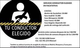 Servicio conductor elegido Facatativa y sus alrededores