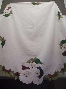 Vendo mantel navideño pintado redondo