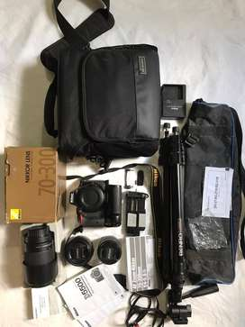 Nikon D5500Kit + ACCESORIOS + Pernuto por vehiculo