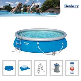 "Kit Piscina Fast Set 4.57m x 1.07m(15'x42"") water capacity (80%)12,362L (3,266gal.)"