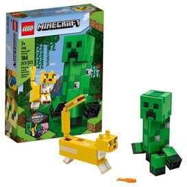 Lego Minecraft Creeper Ocelote BigFig ladrillos bloques Originales Importados granj