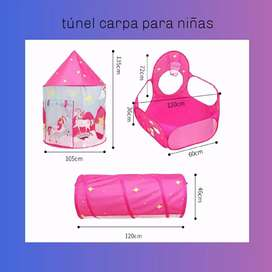 Túnel carpa para niñas