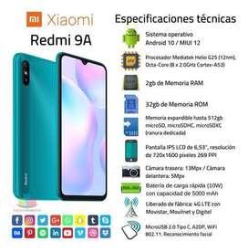 Celular Redmi 9A Nuevo de Caja