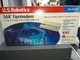 modem robotics 56 k v90 transferencia de datos fax internet