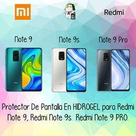 Protector Pantalla en Hidrogel Para Redmi note 9, Redmi note 9s, Redmi note 9 Pro