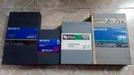 Cassettes betacam y u-matic 3/4