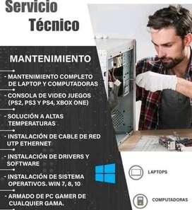 SERVICIO MANTENIMIENTO DE COMPUTADORAS A DOMICILIO