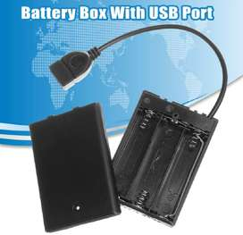 Caja de almacenamiento, banco de energía, 3 baterías AA