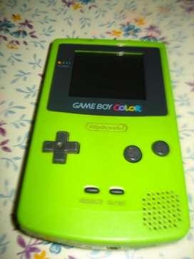 Game Boy Color Cgb 001 Usada Funcionando Falta Tapa Pilas